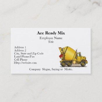 concrete truck business cards