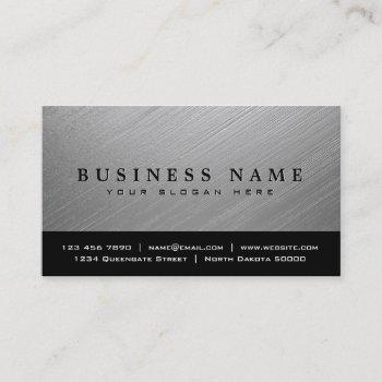 construction brushed metal business card