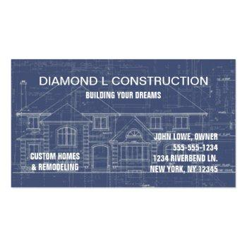 Small Construction Business Card Front View