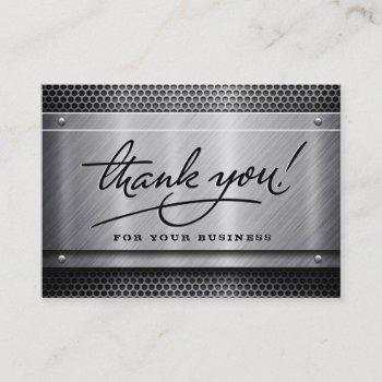 construction business thank you cards