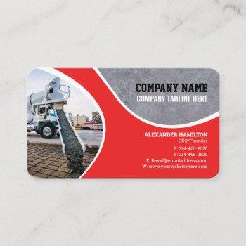 construction company business card (concrete)
