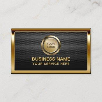 construction custom gold logo professional metal business card