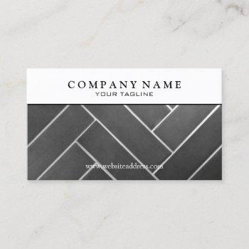 construction tile installer business card