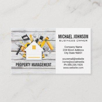 construction tools supplies business card