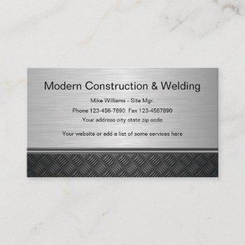 construction welding design business card