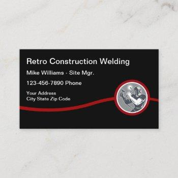 construction welding service business card