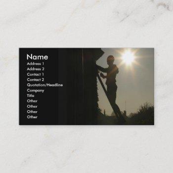 construction worker, handy man business card