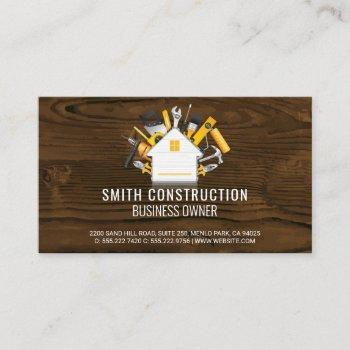 construction worker | home repair tools business card