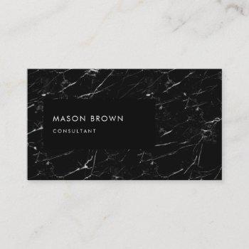 consultant profi modern black marble business card