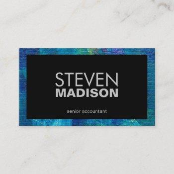 contemporary | canvas paint strokes | artistic business card