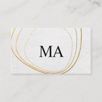 contemporary circular pattern black white texture business card