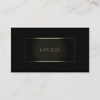 contemporary modern black champaign frame vip business card