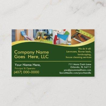 contractor/handyman /do it all / business card