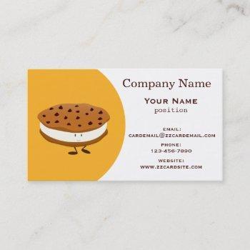 cookie sandwich business card