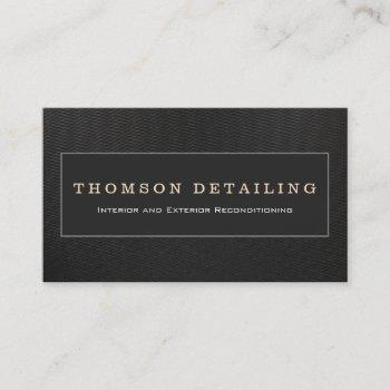 cool auto detailing &  auto body repair checkered business card