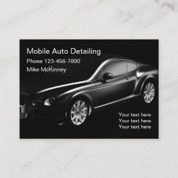 cool auto detailing business card
