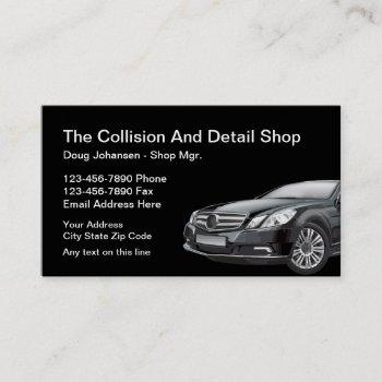 cool automotive collision auto body business card