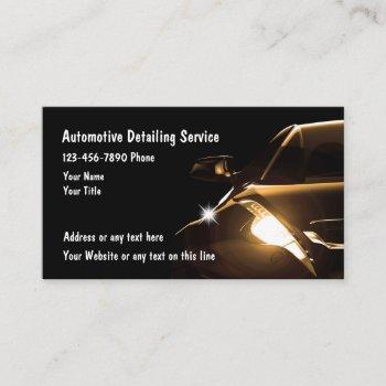 cool automotive detailing business cards