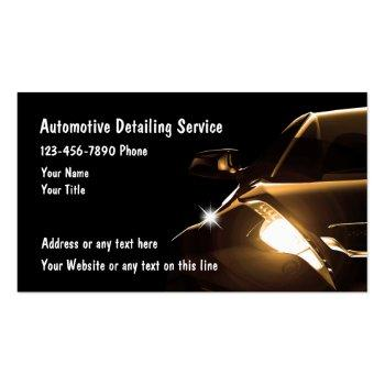 Small Cool Automotive Detailing Business Cards Front View