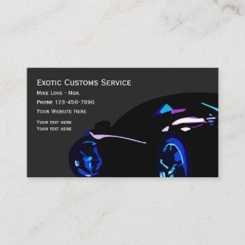 cool automotive exotic car business card