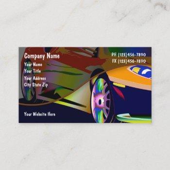 cool automotive theme design business card