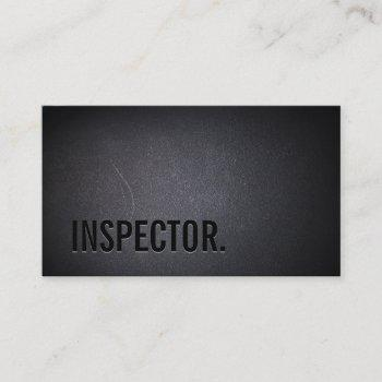 cool black out inspector dark business card