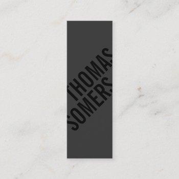 cool bold black unique modern designer mini business card