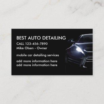 cool car detailing business card
