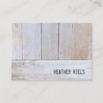 cool country rustic reclaimed wood business card