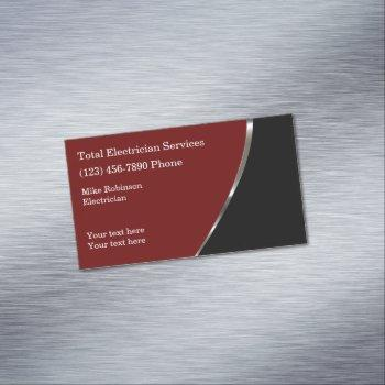 cool electrician modern business card magnet