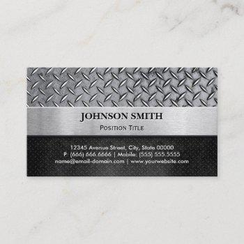 cool embossed diamond cut and brushed heavy metal business card