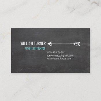 cool modern arrow simple text trendy chalkboard business card
