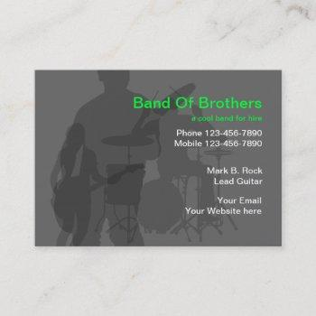 cool music band business cards