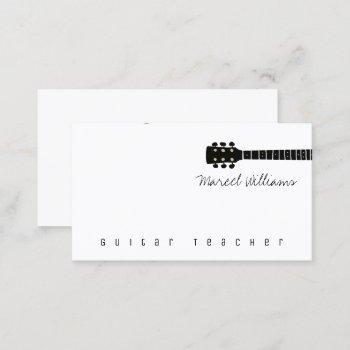 cool music business card for guitar teachers