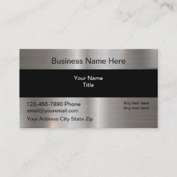 cool silver digitally printed metallic business card