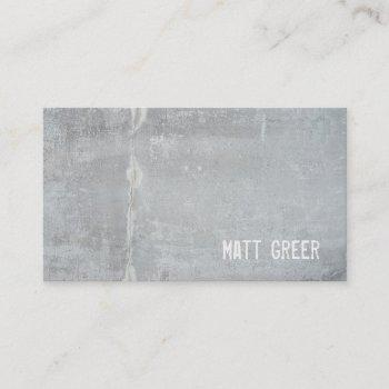 cool simple rustic gray concrete business card