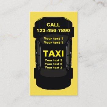 cool taxi transportation design business card