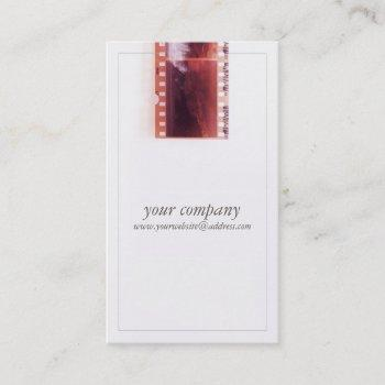 cool vintage photographer camera film business card