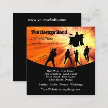 coolest rock band business cards