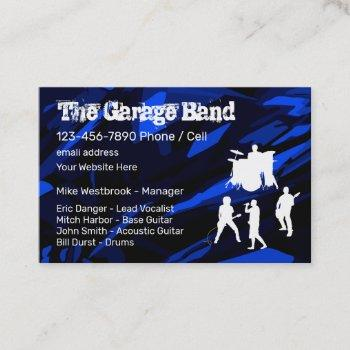 coolest rock band grunge style business card