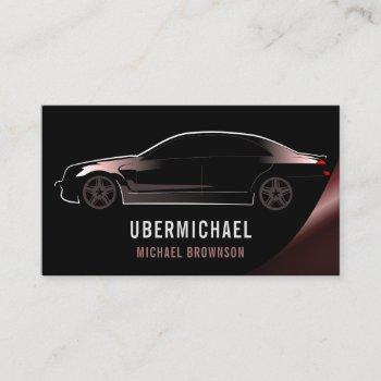 copper car driver red auto repair rent business card