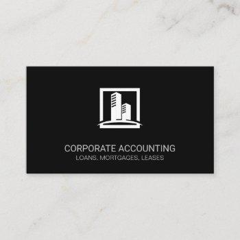 corporate building icon business card