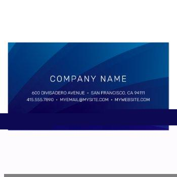 Small Corporate Business Card Back View