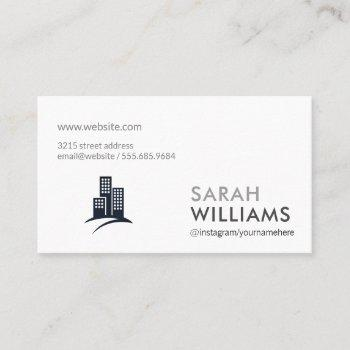 corporate | real estate agent business card