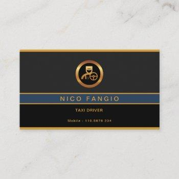 corporate stylish minimalist elegant grey taxi business card