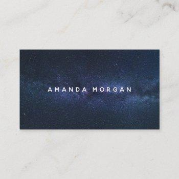 cosmic sky, modern business card