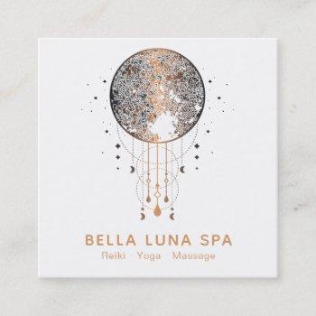 *~* cosmos moon shaman lunar universe square business card