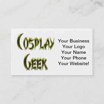 cosplay geek yellow business card