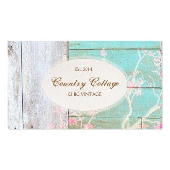 Small Country Cottage Vintage Rustic Wood Boutique Business Card Front View