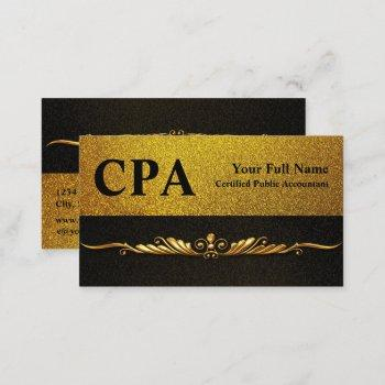 cpa accountant certified public accountants business card